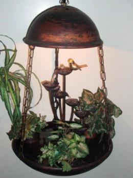 Obrázek výrobku: Pokojová fontána - HŘIB S OSVĚTLENÍM -ZÁVĚSNÝ
