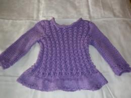 Obrázek výrobku: Fialové pletené šatičky