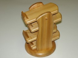 Obrázek výrobku: Stojánek na dálkové ovládače - čtyřpatrový - třešeň2