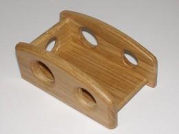 Obrázek výrobku: Stojánek na vizitky s otvory - lakovaný dub