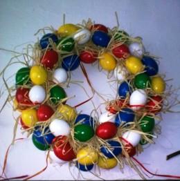 Obrázek výrobku: Barevný velikonoční věnec