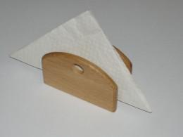 Obrázek výrobku: Dřevěný stojánek na pivní tácky 2 - přírodní dub