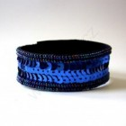 Výrobek: Náramek z flitrů - modrý