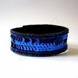 Obrázek výrobku: Náramek z flitrů - modrý