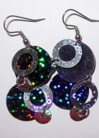Výrobek: Náušnice z barevných flitrů