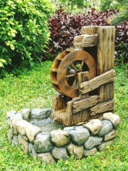 Obrázek výrobku: Zahradní kašna - fontána - VODNÍ KOLO