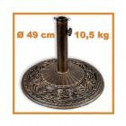 Výrobek: Stojan na slenečníky - bronz s patinou