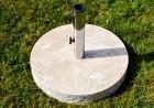 Výrobek: Stojan na slunečník z mramoru a ušlechtilé oceli, kulatý, 20 kg
