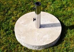 Obrázek výrobku: Stojan na slunečník z mramoru a ušlechtilé oceli, kulatý, 20 kg