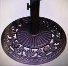 Výrobek: Stojan na slunečníky 10,5 kg bronz  Vhodný pro tyče o průměru: 28mm, 40mm, 48mm