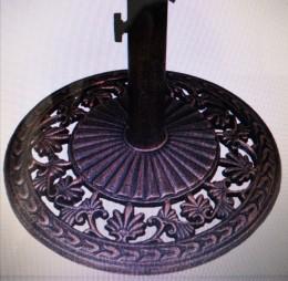 Obrázek výrobku: Stojan na slunečníky 10,5 kg bronz  Vhodný pro tyče o průměru: 28mm, 40mm, 48mm