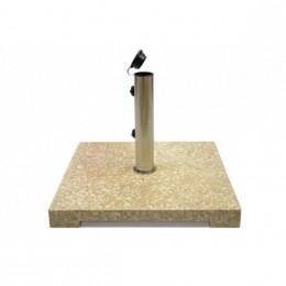 Obrázek výrobku: Stojan na slunečník - z mramoru a ušlechtilé oceli - čtvercový