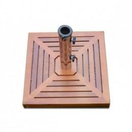 Obrázek výrobku: Stojan na slunečník - žule-nerezová ocel-dřevěný obklad
