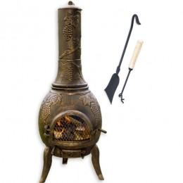 Obrázek výrobku: Zahradní krb TERA - litinový - 120 cm - bronz