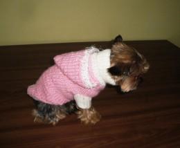 Obrázek výrobku: Obleček pro pejska - růžovo bílý