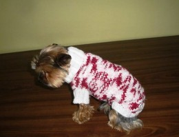 Obrázek výrobku: Obleček pro pejska - růžový melír