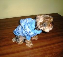 Obrázek výrobku: Obleček pro pejska - modrý melír
