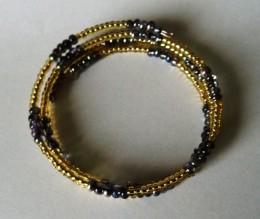 Obrázek výrobku: Černo - zlatý náramek