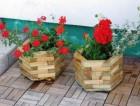 Výrobek: Dřevěný květináč - šestiúhelný - malý - borovice