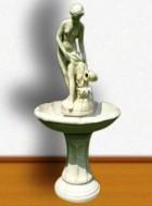 Výrobek: Zahradní kašna - fontána - ptačí lázeň v barokním stylu