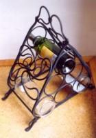 Výrobek: Originální ručně kovaný stojan na víno 7