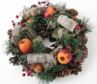 Výrobek: Vánoční věneček s jablíčky