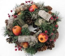 Obrázek výrobku: Vánoční věneček s jablíčky