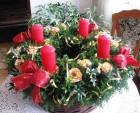 Výrobek: Adventní věnec s růžičkami